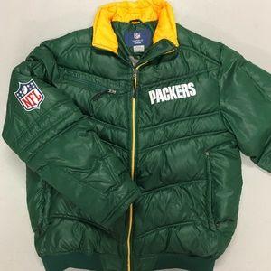 Green Bay Packers On-Field Down Puffer Jacket/Coat